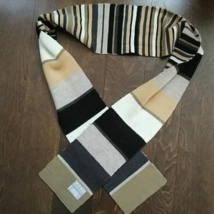 Echo super soft reversible striped scarf